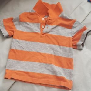 Faded glory orange and gray polo 18 months